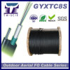 12 núcleos Self-Support G652D la antena de comunicación de la armadura de Fibra Óptica (GYXTC8S)