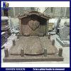 Индийский Гранит Juparana Headstone Tombstone в форме сердца