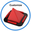 Pirámide de silicona soporte para teléfono móvil Universal soporte de teléfono