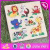 2015 Puzzle Animal jouet en bois, bois jeu de puzzle en 3D, Puzzle en bois jouet 3D, jeu de puzzle en bois jouet W14M087