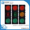 3つの面の赤い緑の円形および秒読みの交通信号ライト