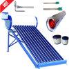 Sistema de calentador de agua solar de baja presión Non-Pressurized Tubo de vacío colector solar