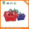 2016 Commerce de gros supermarché paniers à provisions en plastique avec des roues (JS-SBN03)