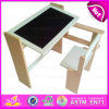 Sell quente Multifunctional Wooden Table e Chair com Easel, Children Wooden Study Table Chair Set com mesa de projeto W08g154b