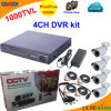 4 Kanal DVR Kit mit CMOS 1000tvl Bullet Camera