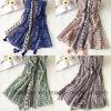 BSCI comerciano la sciarpa all'ingrosso di modo del poliestere stampata Flourish poco costoso (HWBPS076)
