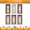 Série de porte intérieure de modèle moderne de porte en aluminium de tissu pour rideaux