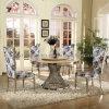 Conjunto de mesa de jantar de aço inoxidável giratório de vidro clássico
