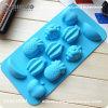 フルーツは青いLonvlyの高品質の食糧シリコーンのケーキ型を形づけた