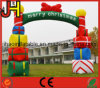 Arco inflable del partido de la decoración al aire libre de la Navidad