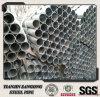 Tubo de acero galvanizado cubierto cinc de la INMERSIÓN caliente con el casquillo plástico