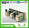 Estação de trabalho modular de madeira da equipe de funcionários de escritório