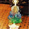 Ornamentos del cristal del coche de Liu Li------Verde Tara del esmalte de Colered