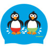 防水かわいい子供の漫画の動物によって印刷されるシリコーンの水泳帽(飛行2014032103)