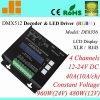 DMX RGBW Decoder, 4CH DMX512 LED Driver, XLR en RJ45 DMX, 40A/960W