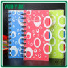 Aduana PP Cover Spiral Notebook con Dividers, Double Spiral Notebook