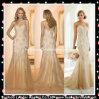 Champagne-Brautkleiderapplique-Nixe-Tulle-Hochzeits-Kleider Yy2001