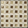クリスタルグラスの組合せの石のモザイク・タイル(HGM293)