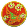 Estera plástica de la taza de la flor (Coaster-05)