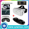 Auriculares Vr Shinecon da realidade virtual 3D + controlador do telecontrole de Bluetooth