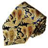Cravates en soie tissées par modèle neuf de Paisley de couleur d'or de mode