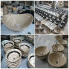 Travertine beige Round Sink per Bathroom/Kitchen
