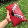 Bunte Luxuxform-kuppelt realer lederner Beutel-Miniumschlag Handtasche Emg4579