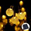Luzes de String Solar 20FT 30 LED luzes de Globo de cristal com 8 modos de luz