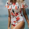 2018 nette Dame-einteiliger Krause-Bikini