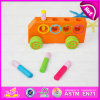 2015 Play divertente Wooden variopinto Car Toy per Kid, Mini Cheap Wooden Car Toy per Children, Highquality Wooden Toy Wholesale W04A147