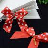 Druck-Firmenzeichen-Satin-Farbband-Bogen mit Draht für Süßigkeiten
