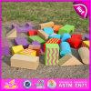 2015 Blocos de construção de madeira novos e bonitos da qualidade, brinquedos educativos do conjunto de blocos de construção, blocos de construção de madeira coloridos DIY W13A066