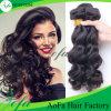 加工されていなく自然で緩い波のバージンの人間のブラジルの毛