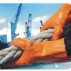 PVC ставит точки Anti-Slip перчатки безопасности изолированные сопротивлением