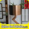 Bac moderne et neuf de planteur de stand de bac de fleur d'acier inoxydable