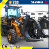 Ce en SGS Approved 1.8t Mini Wheel Loader met Wood Grabber voor Sale