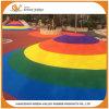 SGS keurde Kleurrijke Korrels EPDM voor de Speelplaats van de Sport van de Renbaan goed