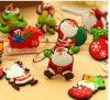 PVC suave Keychain de la Navidad de encargo de Papá Noel