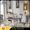 Het dineren Eettafel van het Glas van de Eettafel van het Metaal van het Meubilair de Vastgestelde Zwarte
