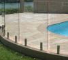 Syndicat de prix ferme en aluminium en verre Tempered clôturant pour la piscine