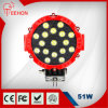 24 مصباح LED العمل وات جولة على الطرق الوعرة الصمام العلوي
