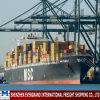 Overzeese van Shanghai Vracht die aan Lagos verscheept