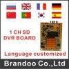 ODMの提供1チャネルSD DVRのメインボード