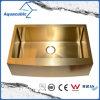 Goldfarben-einzelner Filterglocke-Edelstahl-handgemachte Küche-Wanne (ACS3021A1G)