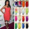 2014 новых прибытия Ким Kardashian Strapless Celebrity порванный жгут платье (W9633522)