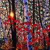 Peinture de paysage de forêt sur l'huile