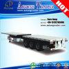 3-Eje de 40 pies de superficie plana Contenedor / Camión Utilitario Semirremolque (LAT9380TJZG)