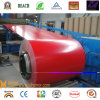 Color Aluminum Coated Coil con Low Price - PVDF-Pure Red
