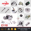 ensamblaje del motor de la motocicleta 110cc para las piezas de la motocicleta de 152fmh C110