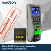 2.4 TCP/IP de Wiegand de la pantalla del color de la pulgada TFT, control de acceso biométrico de la huella digital RS232/485